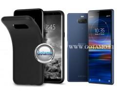 B-matte dėklas nugarėlė Sony Xperia 10 Sony Xperia XA3 mobiliesiems telefonams juodos spalvos