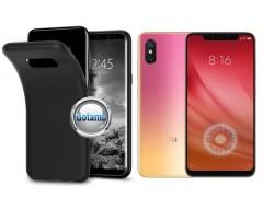 B-matte dėklas nugarėlė Xiaomi Mi 8 Lite, Xiaomi Mi 8X mobiliesiems telefonams juodos spalvos