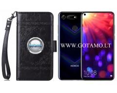 Corinth dėklas Huawei Honor View 20 mobiliesiems telefonams juodos spalvos