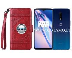 Corinth dėklas OnePlus 7 mobiliesiems telefonams raudonos spalvos