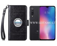 Corinth dėklas Xiaomi Mi 9 SE mobiliesiems telefonams juodos spalvos
