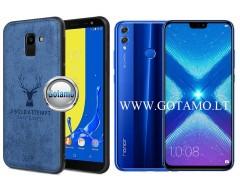 Deer dėklas nugarėlė Huawei Honor 8X mobiliesiems telefonams mėlynos spalvos