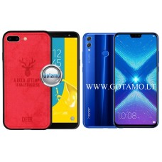 Deer dėklas nugarėlė Huawei Honor 8X mobiliesiems telefonams raudonos spalvos Telšiai | Telšiai | Kaunas