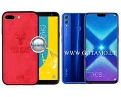 Deer dėklas nugarėlė Huawei Honor 8X mobiliesiems telefonams raudonos spalvos
