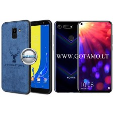 Deer dėklas nugarėlė Huawei Honor View 20 mobiliesiems telefonams mėlynos spalvos