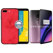 Deer dėklas nugarėlė OnePlus 6T mobiliesiems telefonams raudonos spalvos Šiauliai   Vilnius   Šiauliai