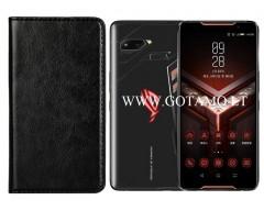 Diary Mate dėklas Asus ROG Phone mobiliesiems telefonams juodos spalvos