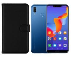 Diary Mate dėklas Huawei Honor Play telefonams juodos spalvos