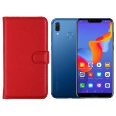 Diary Mate dėklas Huawei Honor Play telefonams raudonos spalvos