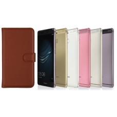 Diary Mate dėklas Huawei P9 telefonams rudos spalvos
