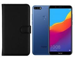 Diary Mate dėklas Huawei Y7 (2018) Huawei Honor 7C mobiliesiems telefonams juodos spalvos