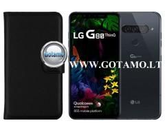 Diary Mate dėklas LG G8S ThinQ mobiliesiems telefonams juodos spalvos