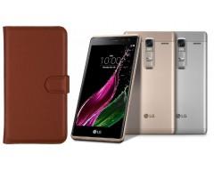 Diary Mate dėklas LG Zero mobiliesiems telefonams rudos spalvos