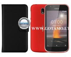 Diary Mate dėklas Nokia 1 (2018) mobiliesiems telefonams juodos spalvos