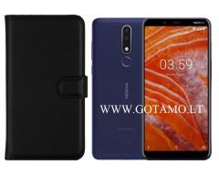 Diary Mate dėklas Nokia 3.1 Plus mobiliesiems telefonams juodos spalvos
