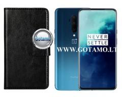 Diary Mate dėklas OnePlus 7T Pro mobiliesiems telefonams juodos spalvos