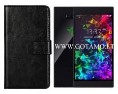 Diary Mate dėklas Razer Phone 2 mobiliesiems telefonams juodos spalvos