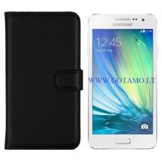 Diary Mate dėklas Samsung Galaxy A3 mobiliesiems telefonams juodos spalvos Vilnius | Vilnius | Telšiai