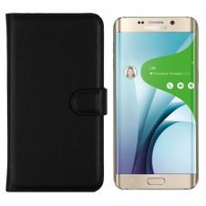 Diary Mate dėklas Samsung Galaxy S6 edge+ telefonams juodos spalvos