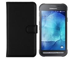 Diary Mate dėklas Samsung Galaxy Xcover 3 mobiliesiems telefonams juodos spalvos
