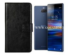 Diary Mate dėklas Sony Xperia 10 Sony Xperia XA3 telefonams juodos spalvos