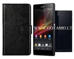 Diary Mate dėklas Sony Xperia Z telefonams juodos spalvos