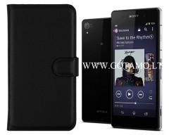 Diary Mate dėklas Sony Xperia Z2 mobiliesiems telefonams juodos spalvos