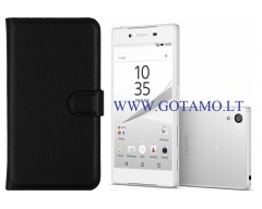 Diary Mate dėklas Sony Xperia Z5 mobiliesiems telefonams juodos spalvos