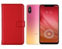 Diary Mate dėklas Xiaomi Mi 8 Lite / Xiaomi Mi 8X mobiliesiems telefonams raudonos spalvos