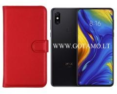 Diary Mate dėklas Xiaomi Mi Mix 3 mobiliesiems telefonams raudonos spalvos