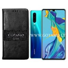 Gotamo D-gravity natūralios odos dėklas Huawei P30 mobiliesiems telefonams juodos spalvos Kaunas | Vilnius | Šiauliai
