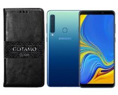 Gotamo D-gravity natūralios odos dėklas Samsung Galaxy A9 (2018) mobiliesiems telefonams juodos spalvos