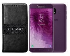 Gotamo D-gravity natūralios odos dėklas Samsung Galaxy J4 (2018) mobiliesiems telefonams juodos spalvos