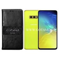 Gotamo D-gravity natūralios odos dėklas Samsung Galaxy S10e mobiliesiems telefonams juodos spalvos Kaunas | Klaipėda | Palanga