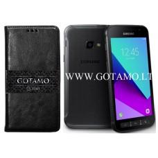 Gotamo D-gravity natūralios odos dėklas Samsung Galaxy Xcover 4 mobiliesiems telefonams juodos spalvos