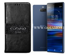 Gotamo D-gravity natūralios odos dėklas Sony Xperia 10 Sony Xperia XA3 mobiliesiems telefonams juodos spalvos