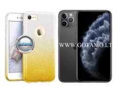 iLLuminaTe silikoninis dėklas nugarėlė Apple iPhone 11 Pro Max telefonams aukso spalvos