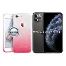 iLLuminaTe silikoninis dėklas nugarėlė Apple iPhone 11 Pro Max telefonams rožinės spalvos