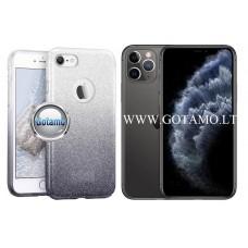 iLLuminaTe silikoninis dėklas nugarėlė Apple iPhone 11 Pro Max telefonams sidabro spalvos
