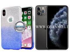 iLLuminaTe silikoninis dėklas nugarėlė Apple iPhone 11 Pro Max telefonams žydros spalvos