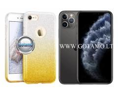 iLLuminaTe silikoninis dėklas nugarėlė Apple iPhone 11 Pro telefonams aukso spalvos
