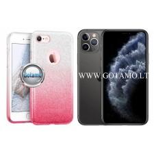 iLLuminaTe silikoninis dėklas nugarėlė Apple iPhone 11 Pro telefonams rožinės spalvos Vilnius | Kaunas | Plungė