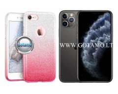 iLLuminaTe silikoninis dėklas nugarėlė Apple iPhone 11 Pro telefonams rožinės spalvos