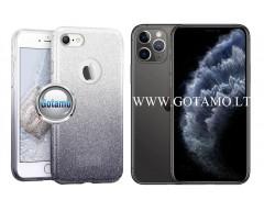 iLLuminaTe silikoninis dėklas nugarėlė Apple iPhone 11 Pro telefonams sidabro spalvos