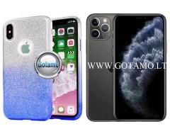 iLLuminaTe silikoninis dėklas nugarėlė Apple iPhone 11 Pro telefonams žydros spalvos