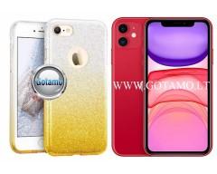 iLLuminaTe silikoninis dėklas nugarėlė Apple iPhone 11 telefonams aukso spalvos