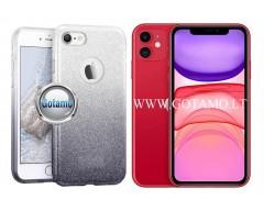 iLLuminaTe silikoninis dėklas nugarėlė Apple iPhone 11 telefonams sidabro spalvos