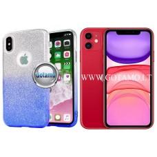 iLLuminaTe silikoninis dėklas nugarėlė Apple iPhone 11 telefonams žydros spalvos