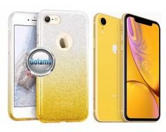 iLLuminaTe silikoninis dėklas nugarėlė Apple iPhone XR telefonams aukso spalvos