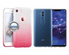 iLLuminaTe silikoninis dėklas nugarėlė Huawei Mate 20 Lite telefonams rožinės spalvos